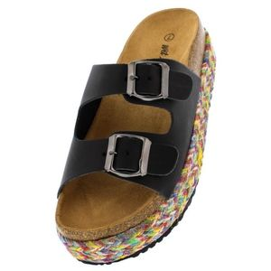 Shoes - Brand NEW! SLIDES w/ COLORFUL BRAIDED SOLE